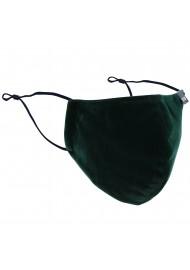 Pine Green Velvet Mask
