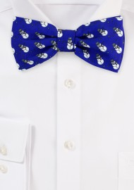 Blue Bow Tie with Snowmen