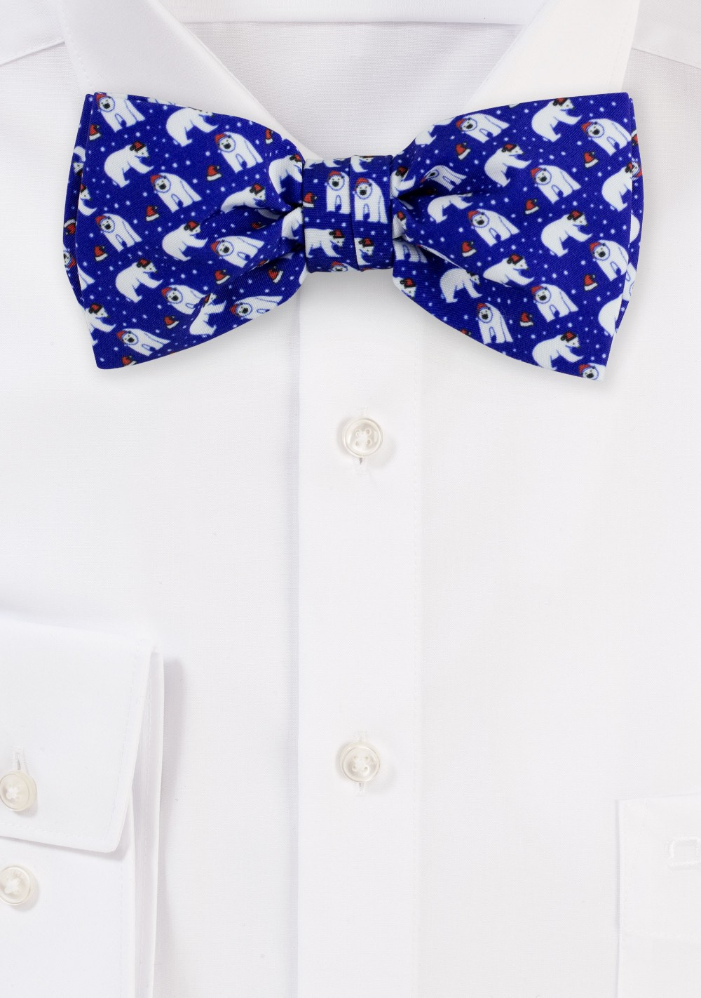 Navy Blue Bow Tie with Polar Bears