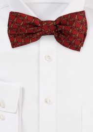 Bow Tie with Rudolph Print