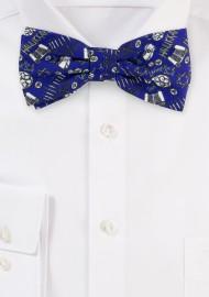 Hanukkah Bow Tie in Blue