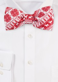 Swedish Christmas Print Bow Tie