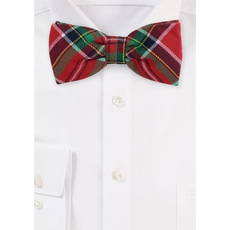 Christmas Plaid Bow Tie