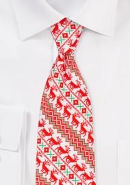 Nordic Christmas Print Necktie