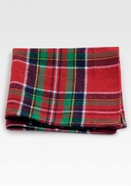 Christmas Plaid Pocket Square