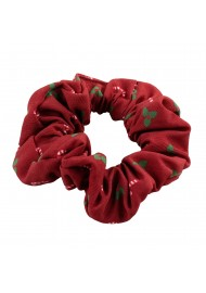 Christmas Print Hair Scrunchie