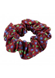Scrunchie in Christmas Wrap Design