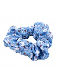 Ice Blue Scrunchie with Polar Bears