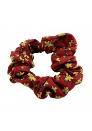 Scrunchie with Tiny Gingerbread Men
