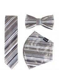 Glitter Stripe Mask Set in Platinum and Rose Gold