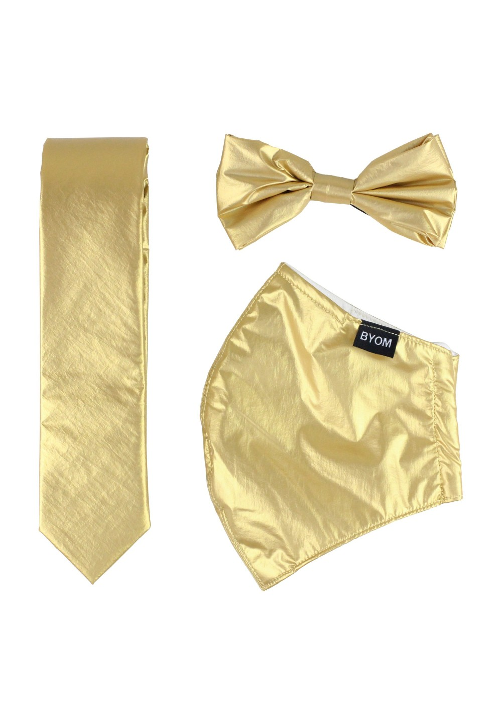 Metallic Gold Mask and Tie Set