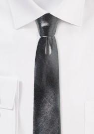 Sparkly Silver Necktie