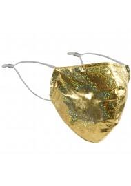 Festive Glitter Mask in Gold