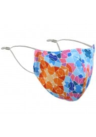 Kaleidoscope Print Mask in Orange and Blue