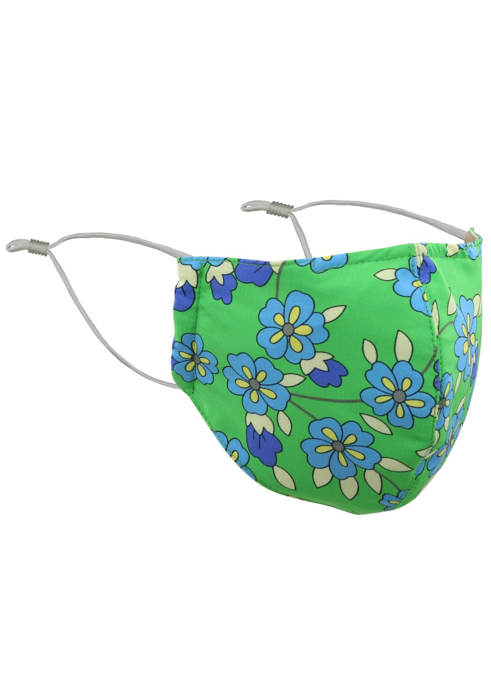 Kelly Green Floral Mask