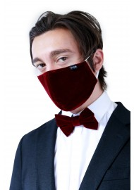 Velvet Face Mask in Elegant Burgundy Styled