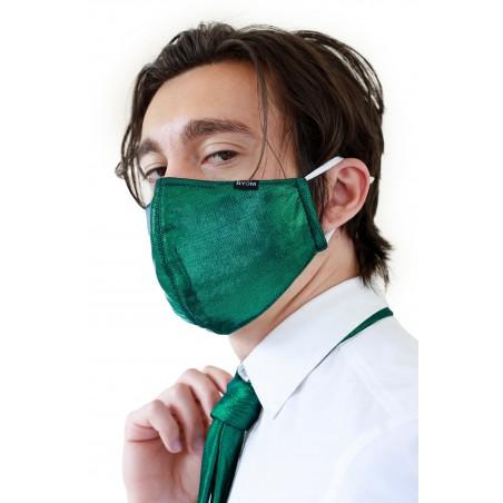 Metallic Green Filter Mask Styled
