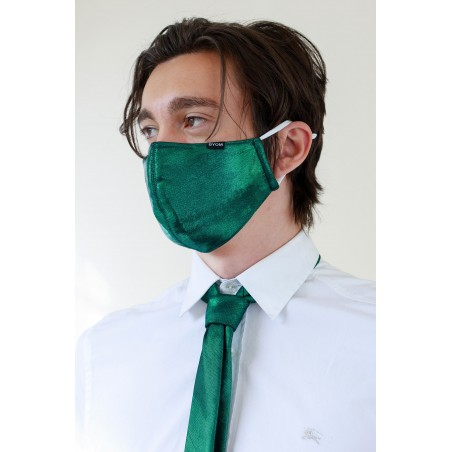 Glitter Mask Set in Pine Green Styled