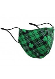 Irish Tartan Mask with 4 Leaf Clover