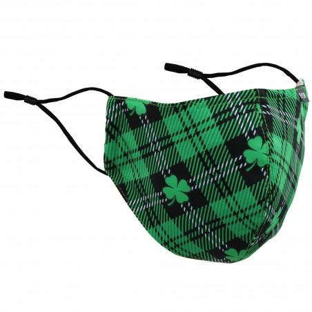 Irish Tartan Mask with 4 Leaf Clover