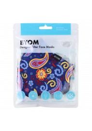 Wild Paisley Print Filter Mask in Mask Bag