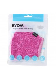 Fuchsia Pink Paisley Mask in Mask Bag
