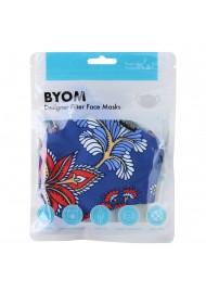Whimsical Floral Print Face Mask in Mask Bag