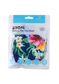 Summer Floral Bouquet Filter Mask in Mask Bag