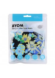 Cotton Floral Mask with Nano Filter in Mask Bag