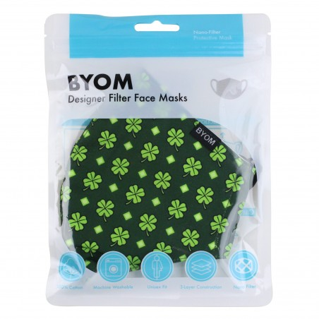 Lucky Clovers Mask in Mask Bag