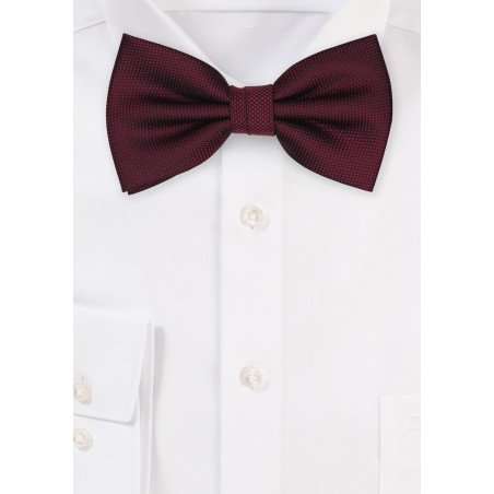 Matte Textured Bow Tie in Maroon