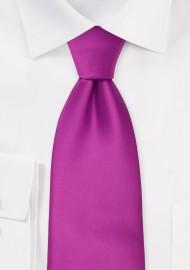 XL Length Tie in Dark Magenta Pink