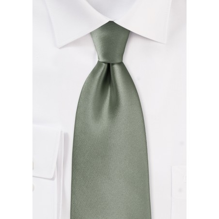 Solid color ties - Solid olive color necktie