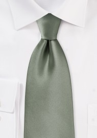Solid Olive Hued Tie in XL Length