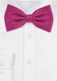 Bow ties  - Solid color bow tie in dark pink