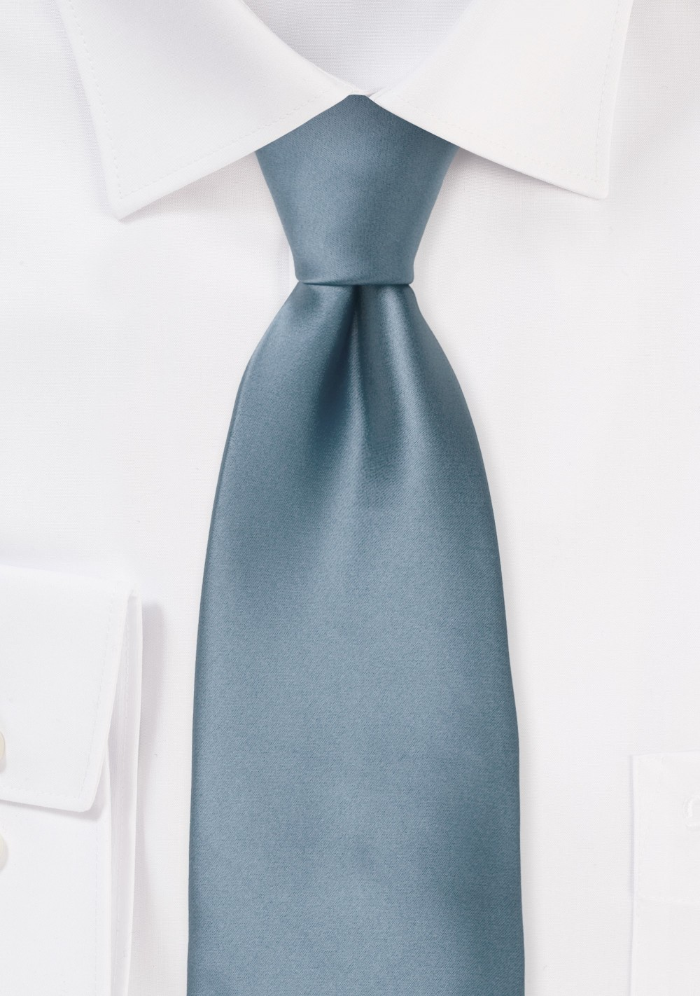 XL Length Tie in Dusty Blue