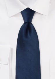 Mens Silk Tie in Dark Navy Blue