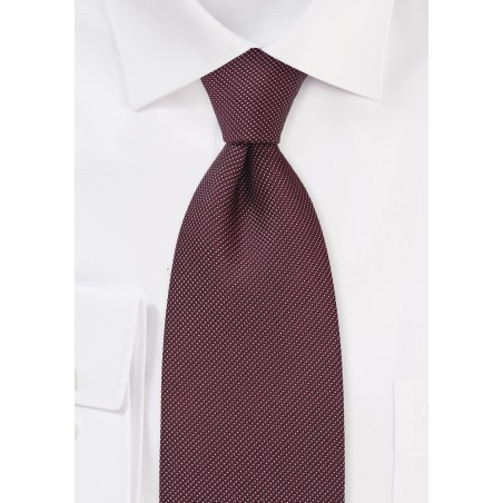 Wine Red and White Polka Dot Tie