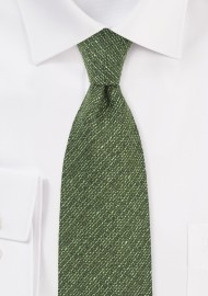 Autumn Wool Tie in Thyme Green