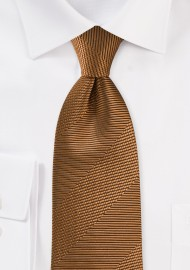 Textured Tie in Bronze