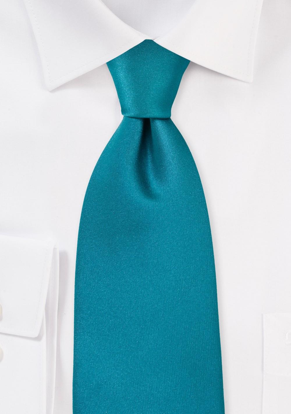 Solid XL Tie in Jade Green