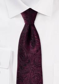 Claret Kids Paisley Tie