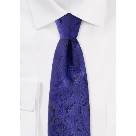 Ultramarine Blue Paisley Tie