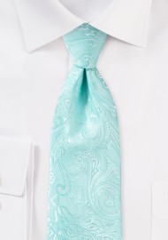 Paisley Tie for Kids in Robins Egg Blue
