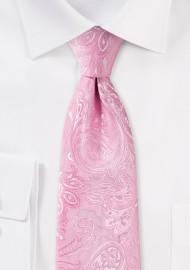 Carnation Pink Paisley Kids Tie