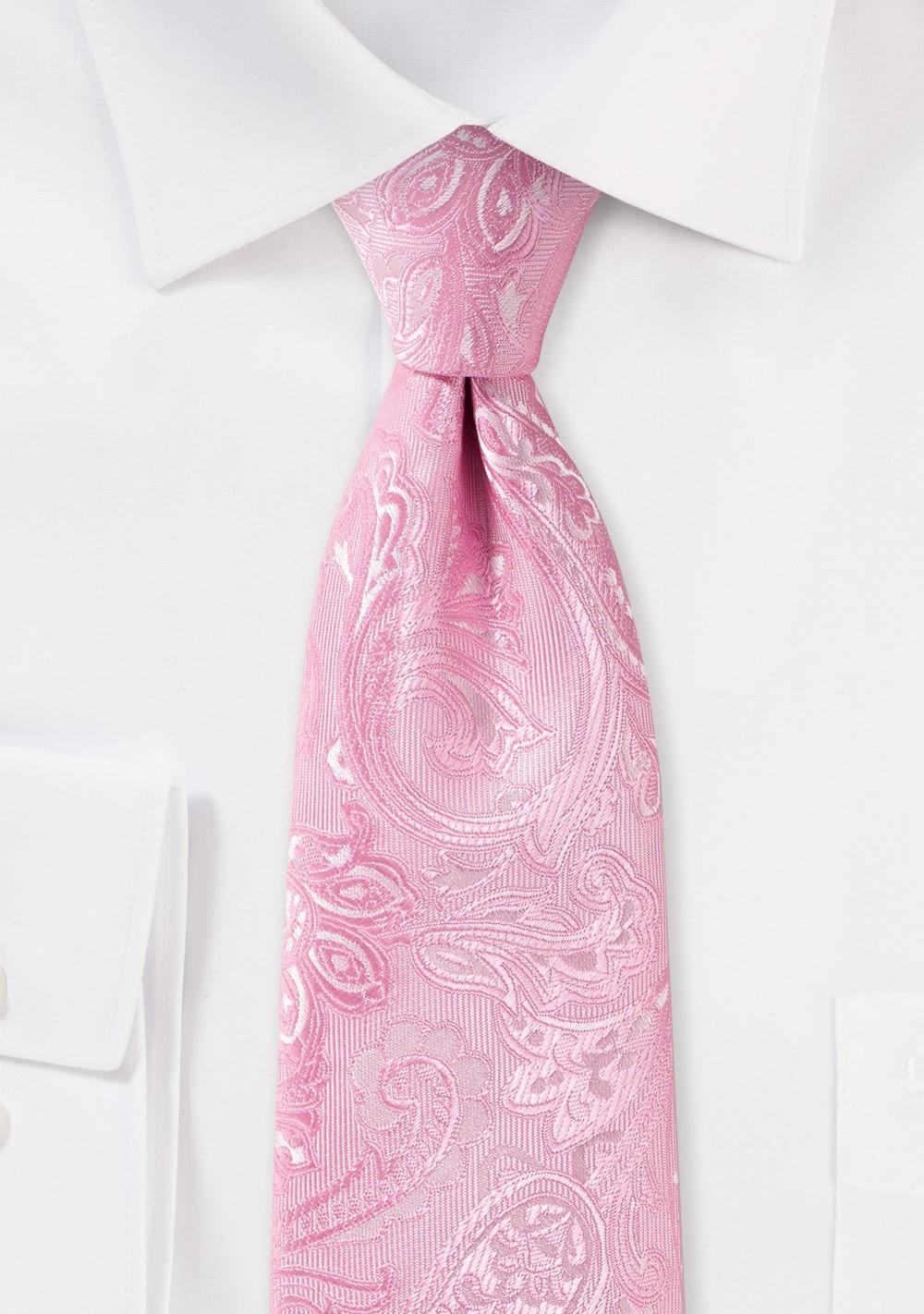 XXL Paisley Tie in Carnation