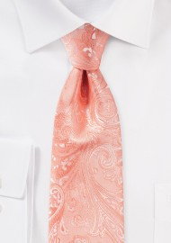 Bellini Pink Paisley Tie for Kids