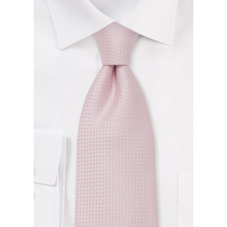 Pink Silk Tie - Handmade silk tie in light pink