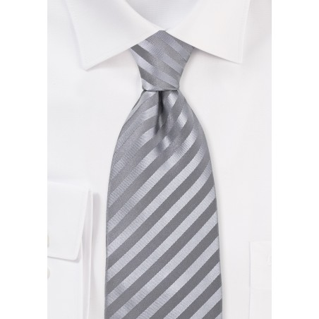 Silver-Gray Silk Tie