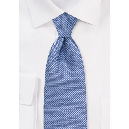 Textured Hydrangea Blue Tie in XL Length
